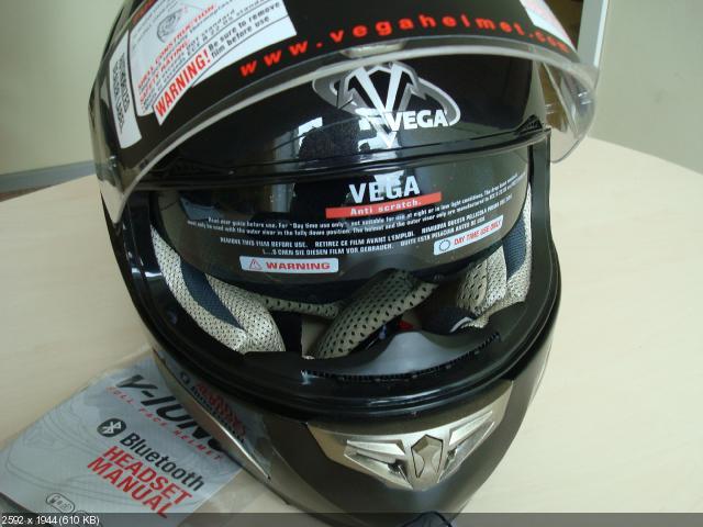 Мотошлем Vega HD168 (Bluetooth)