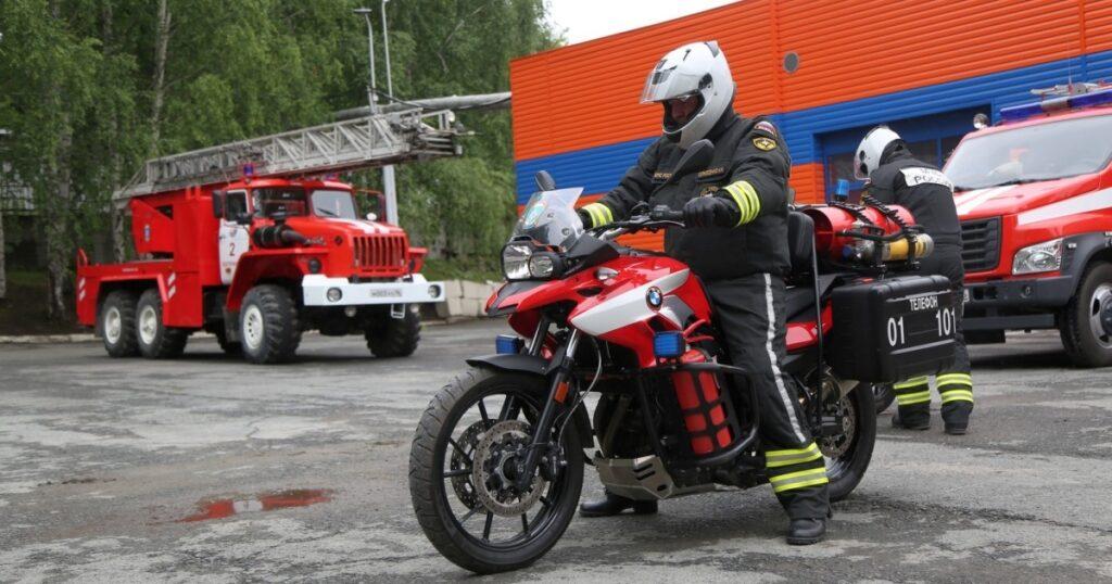 Пожарный мотоцикл