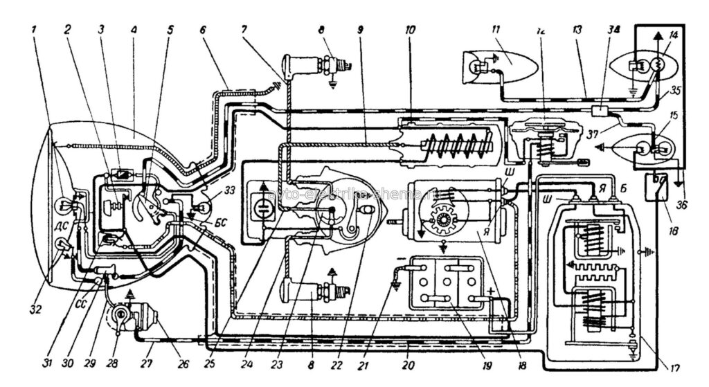 Схема мотоцикла К-750М