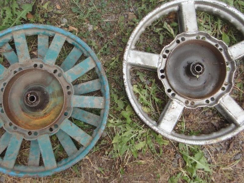 Самодельное колесо на Урал